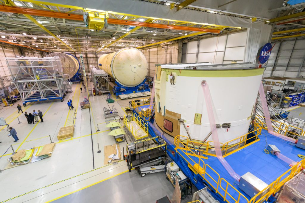 May 2019 - Intertank, LOX, and LH2 Tanks toward the end of production.