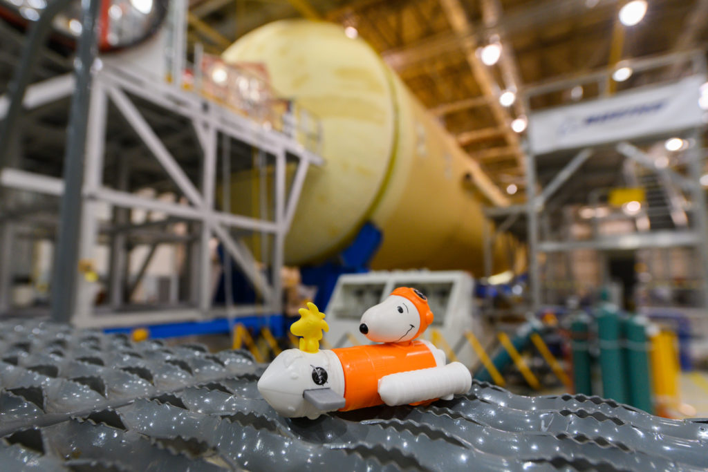 October 2019 - Astronaut Snoopy and Woodstock visit the NASA Michoud Assembly Facility.