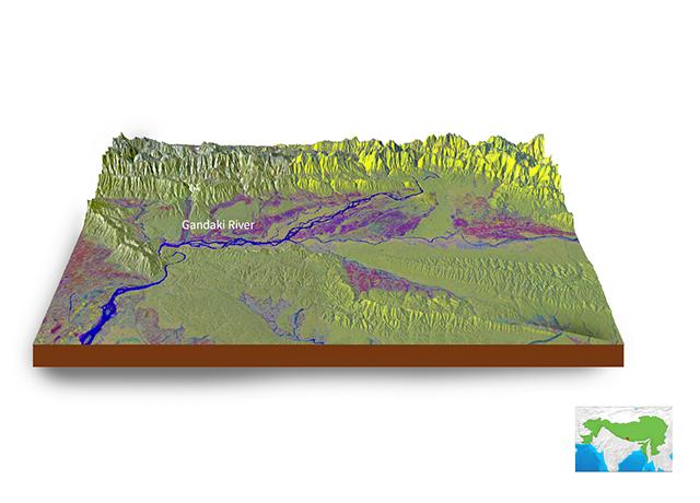 Gandaki River Sentinel-1 Imagery