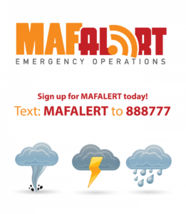 Sign up for MAFALERT