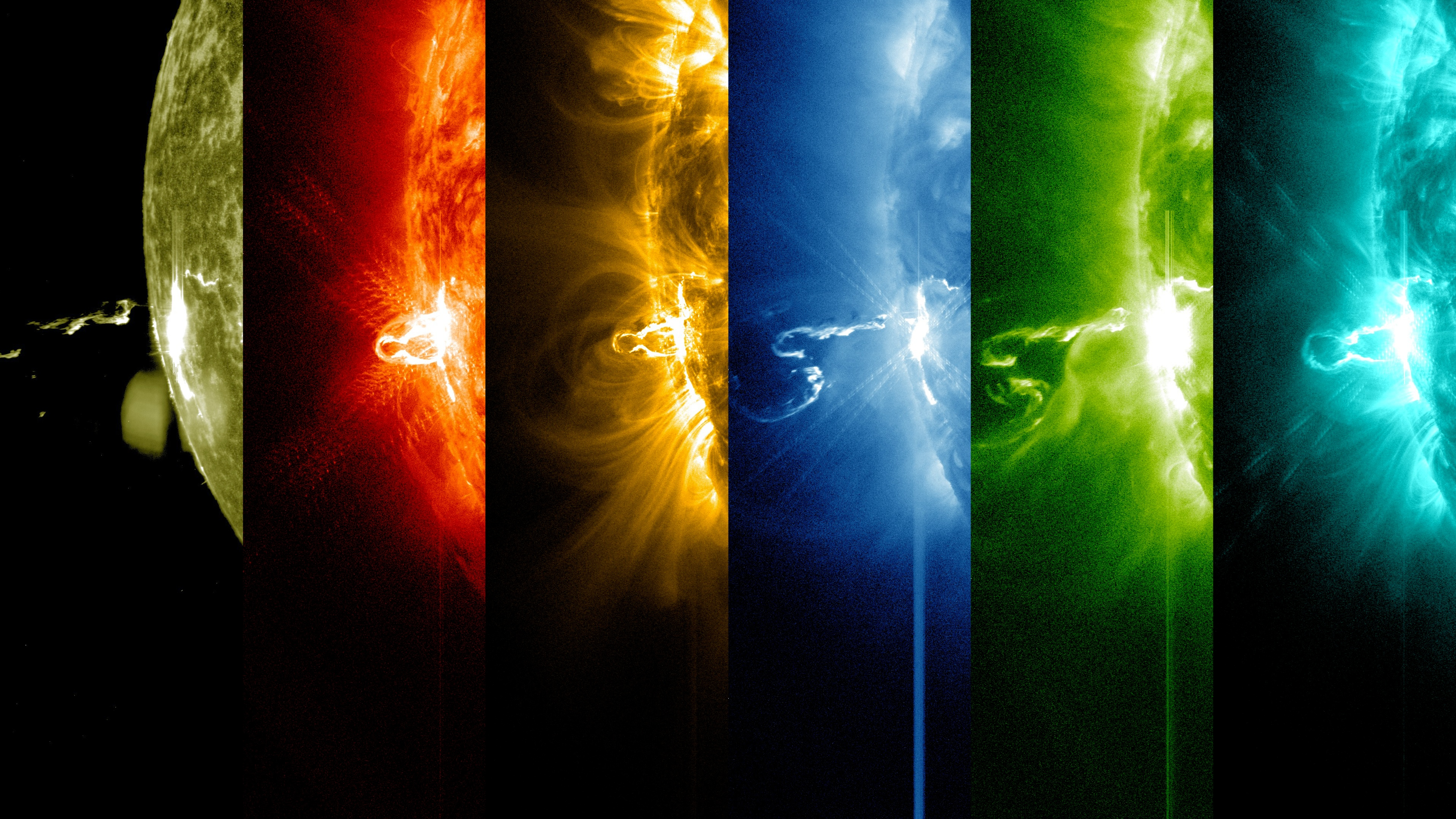 Colored Solar Flare