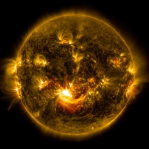 Mid-Level Solar Flare
